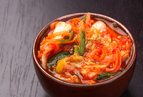 Bowl of fermented foods
