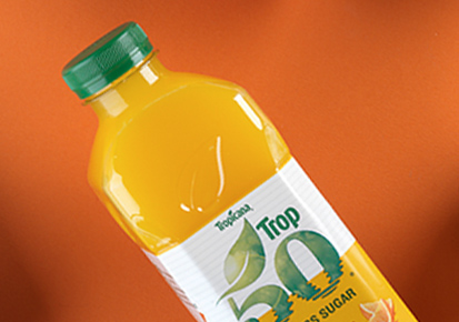 Bottle of Tropicana Trop 50 Orange