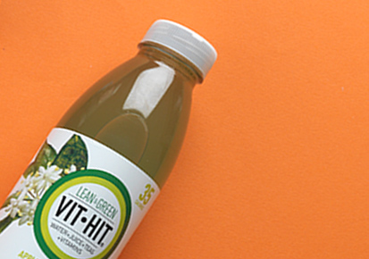 Bottle of VitHit Apple Lean and Green