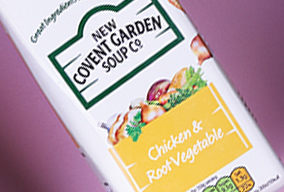 carton of New Covent Garden Soup Co Chicken and Root Vegetable flavour