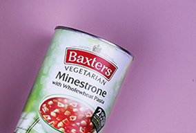 Tin of Baxters Vegetarian Minestrone with Wholemeal Pasta