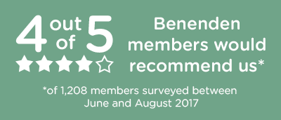 4 out of 5 Benenden members would recommend us