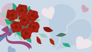 how to spread the love this Valentine's - wilting roses representing loneliness