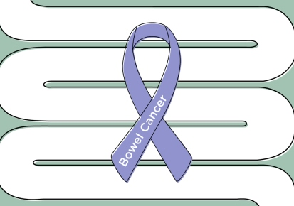 bowel cancer ribbon